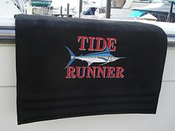 Click to view album: Sunbrella Custom Embroidered Boarding Boat Mats