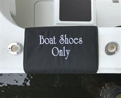 Sunbrella Custom Embroidered Boat Shoes Only Boarding Mat For Boat Gunwale - 20