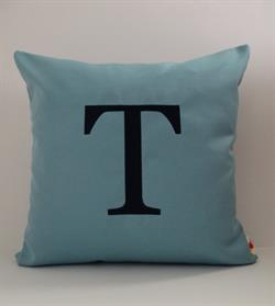 Sunbrella Monogrammed Indoor Outdoor Pillow Cover - Georgia Font