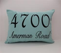 Sunbrella Mongrammed Indoor Outdoor Pillow Cover - House Number With Street Name III