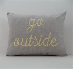 Sunbrella Embroidered go outside Indoor Outdoor Pillow Cover