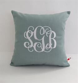 Sunbrella Monogrammed Indoor Outdoor Pillow Cover - Vine Font