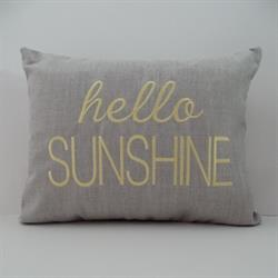 Sunbrella Embroidered hello Sunshine Indoor Outdoor Pillow Cover