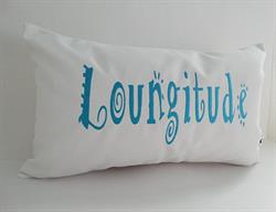 Sunbrella Embroidered Indoor Outdoor Pillow Cover - Loungitude - White
