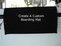 Custom Sunbrella Boarding Mat For Boat Gunnel - 25