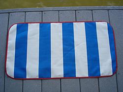 Sunbrella Pacific Blue/Natural Stripe Sandy Sole Mat