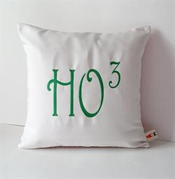 Sunbrella Embroidered Ho Christmas Indoor Outdoor Pillow Cover