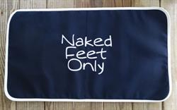 Sunbrella Embroidered Naked Feet Only Non Skid Boat Mat - Carefree Font - Navy