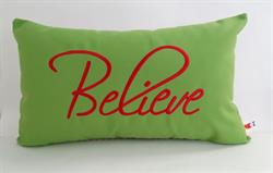 Sunbrella Embroidered Believe Indoor Outdoor Pillow Cover - Macaw