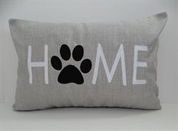 Sunbrella Embroidered Dog Home Indoor Outdoor Pillow Cover - Cast Silver