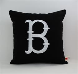 Sunbrella Monogrammed Indoor Outdoor Pillow Cover - French Fishtail Font