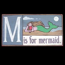 M Is For Mermaid Wooden Primer