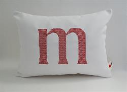 Sunbrella Monogrammed Indoor Outdoor Pillow Cover - Cross Stitch Font