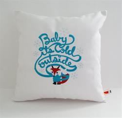 Sunbrella Embroidered Baby It's Cold Outside Indoor Outdoor Pillow Cover