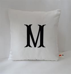Sunbrella Monogrammed Indoor Outdoor Pillow Cover - Fishtail Font