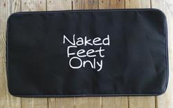 Sunbrella Embroidered Naked Feet Only Non Skid Boat Mat - Carefree Font - Black