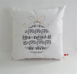 Sunbrella Embroidered Musical Ornament Indoor Outdoor Pillow Cover